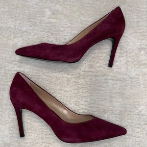 Banana Republic wine purple suede pumps heels